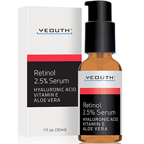 Retinol Serum 2.5% with Hyaluronic Acid, Aloe Vera, Vitamin Eby Yeouth review