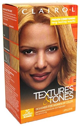 Clairol Textures & Tones 7G Lightest Blonde. review