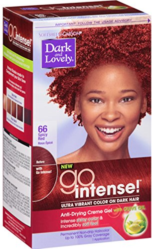 Dark and Lovely Go Intense! Hair Color No.66, Spicy Red review