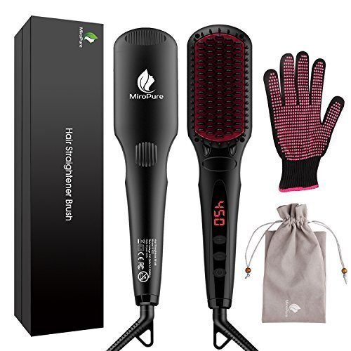 Enhanced Hair Straightener Brush by MiroPure