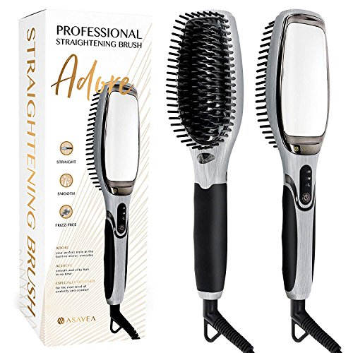 AsaVea Professional Hair Straightening Brush with Mirror review