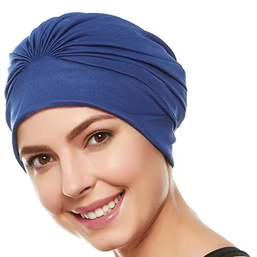 Beemo Women's Swim Bathing Cap Turban – Polyester Latex Lined Pleated. review