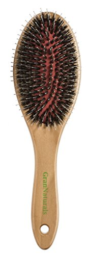 GranNaturals Boar + Nylon Bristle Oval Hair Brush with a Wooden Handle review