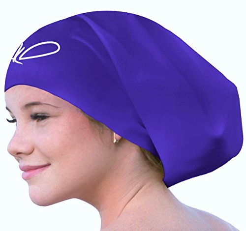 Long Hair Swim Cap - Swimming Caps for Women Men  review