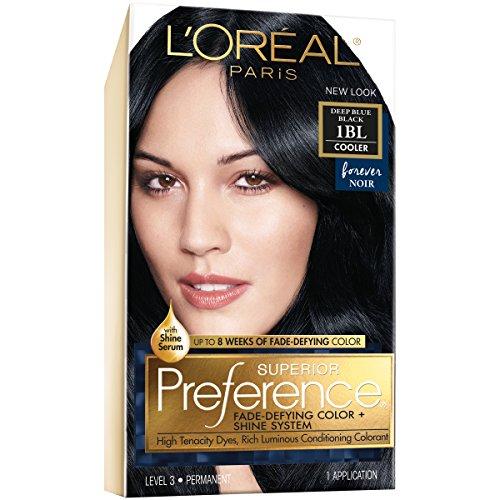 L\'Oréal Paris Superior Preference Permanent Hair Color, 1BL Deep Blue Black review