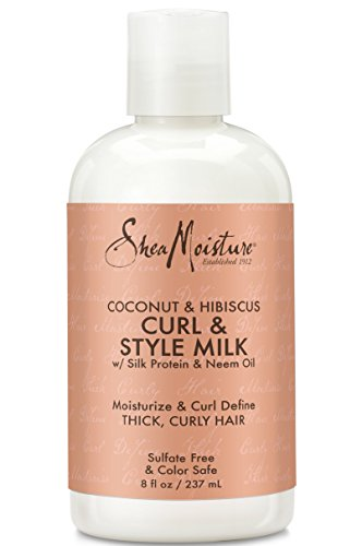 Shea Moisture Coconut & Hibiscus Curl & Style Milk i review