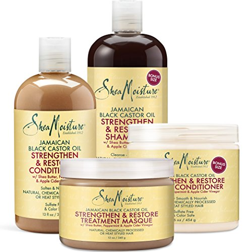 Shea Moisture Strengthen Grow & Restore Combo Bundle review