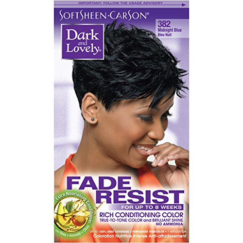 SoftSheen-Carson Dark and Lovely Fade Resist Rich Conditioning Color, Midnight Blue 382 review